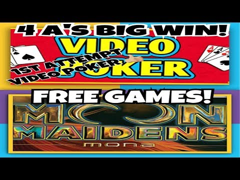 **MOON MAIDENS** FREE GAMES | .25cent VIDEO POKER BIG WIN!