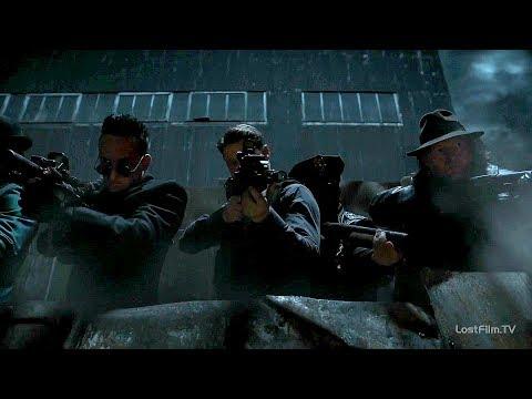 Полиция и преступники Готэма против военных. Готэм