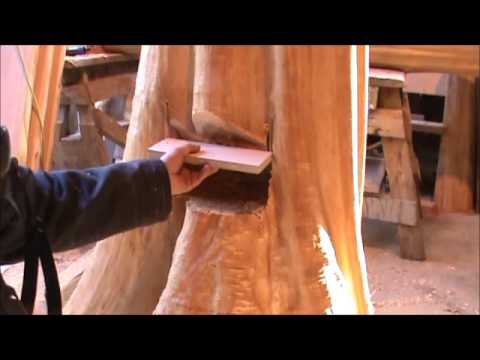 How to Build Log Stairs ~ Laying out the Stump Mortise ~ Part 4