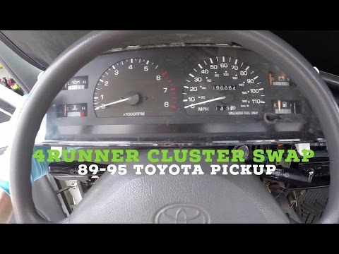How to Install Toyota Pickup Cluster SR5 4Runner Upgrade (Tach, Oil Pressure, Volt)