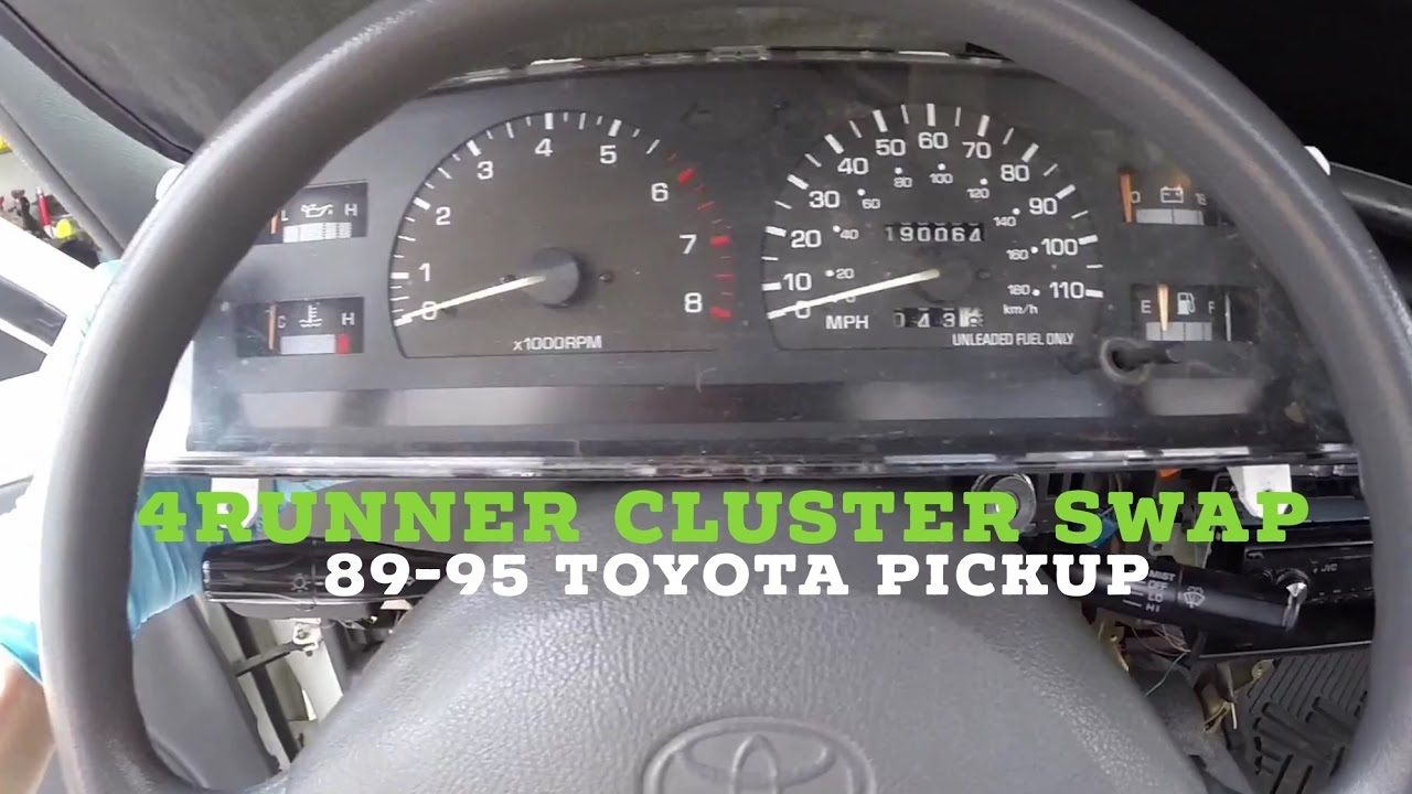 small resolution of how to install toyota pickup cluster sr5 4runner upgrade tach oil pressure volt