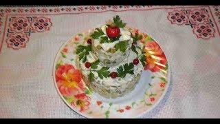 Салат с креветками / Рецепт вкусного салата / Салат з креветок / Салат на празник