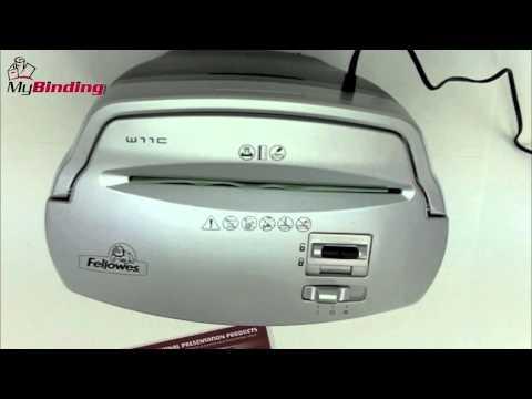 Fellowes W-11C Deskside Cross Cut Paper Shredder Review - 3103201