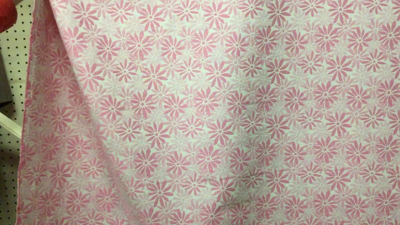 Light Pink Daisy On White Floral Upholstery Curtain Fabric