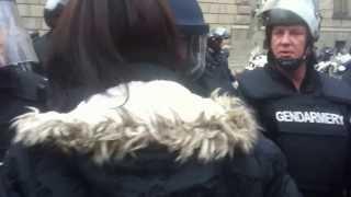 Police violence in Bulgaria 12.11.2013