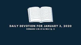 Daily Devotion for January 3, 2020