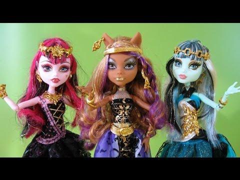 Monster High 13 Deseos Clawdeen Wolf, Draculaura y Frankie Stein - Juguetes de Monster High