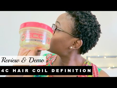 CURL DEFINITION FOR SHORT NATURAL 4B/ 4C KINKY HAIR | Eco Styler Gel Argan Oil Review