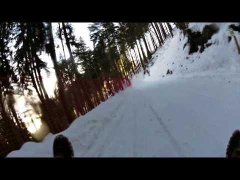 Highspeed Rodeln Blomberg im Winter
