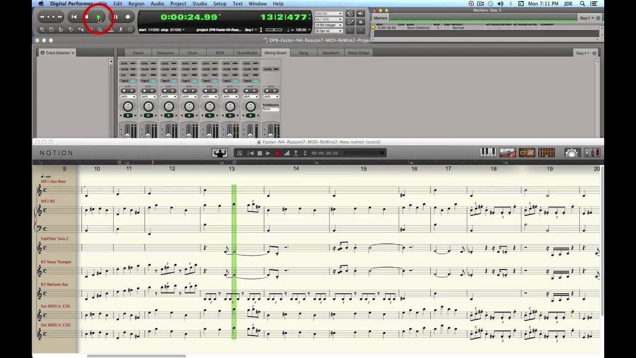 PreSonus Forums | Notion Rewire MIDI Driver to Studio One