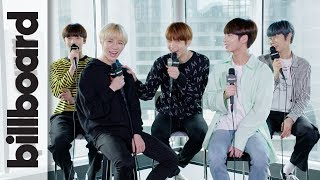 Baixar TXT Discuss Releasing 'Cat & Dog' In English & Love of BTS, Justin Bieber, Post Malone | Billboard