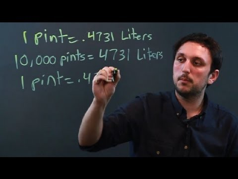 How To Change The Volume Of Pints To Liters Metric System