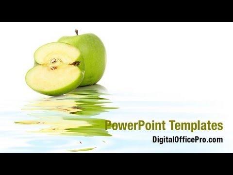 Green apple slice powerpoint template backgrounds green apple slice powerpoint template backgrounds digitalofficepro 09060w toneelgroepblik Gallery