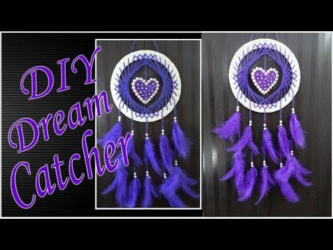 DIY Handmade Heart Dream Catcher Tutorial   How to make a Dream Catcher