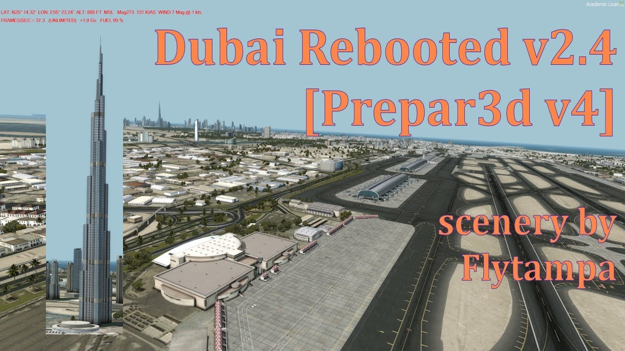 Prepar3D v4 Flytampa Dubai rebooted, HD