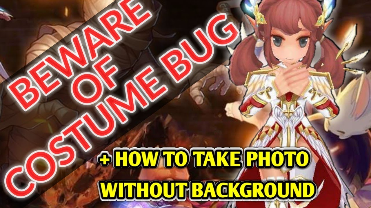 Beware of the Costume BUG + how to take photos with Black Background in  Ragnarok Mobile SEA