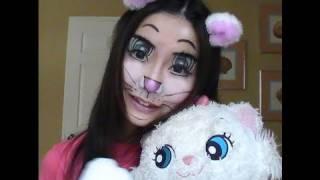 CUTEST  Halloween Makeup Tutorial Disney Marie Cat / Anime