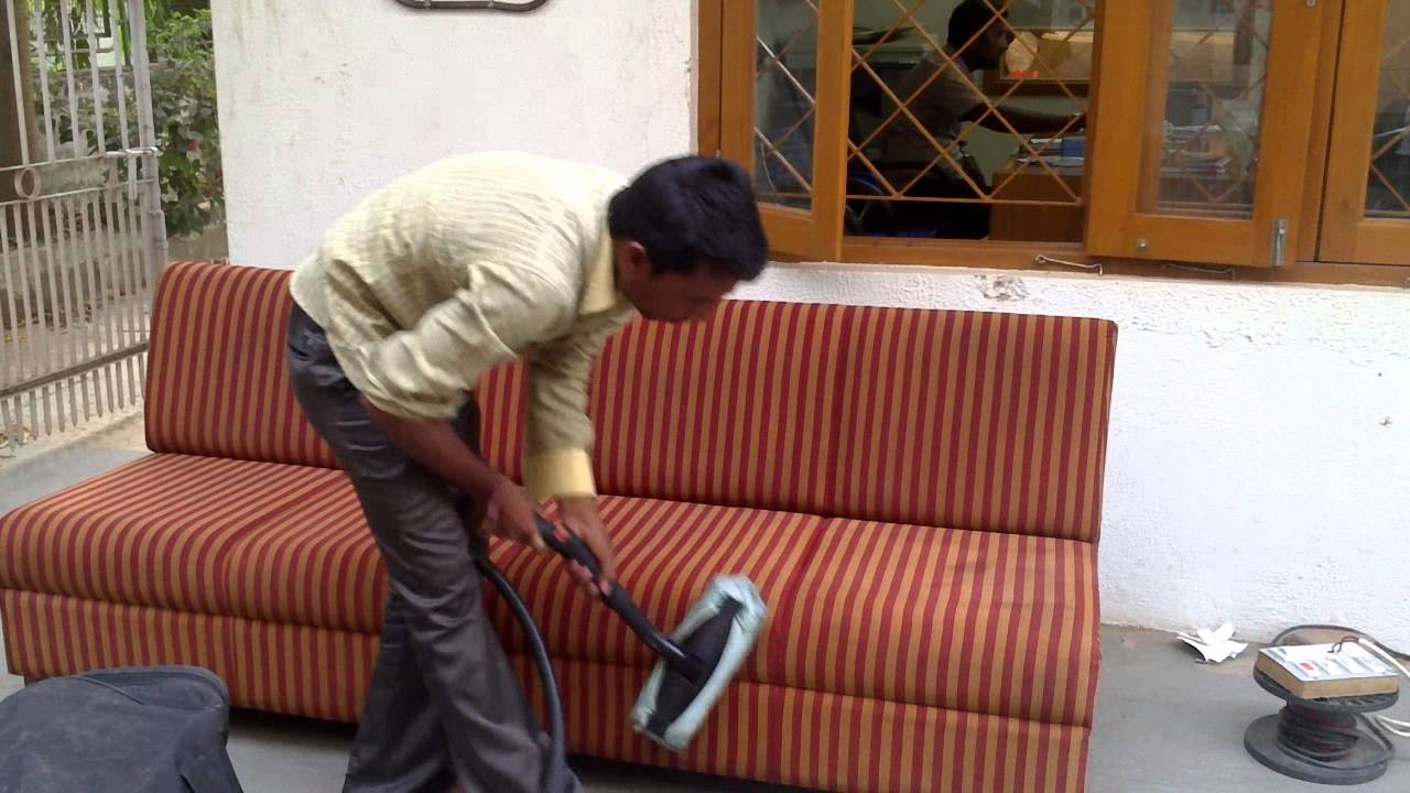 Sofa Steam Cleaning   After Shampoo Cleaning   YouTube