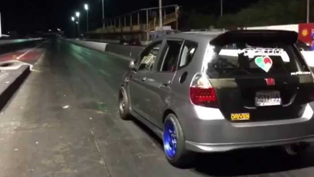Lovely Honda Fit K24 From Pr 12.6 At 110mph On Street Tires