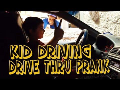 DRIVE THRU- KID DRIVER PRANK (MUST WATCH)