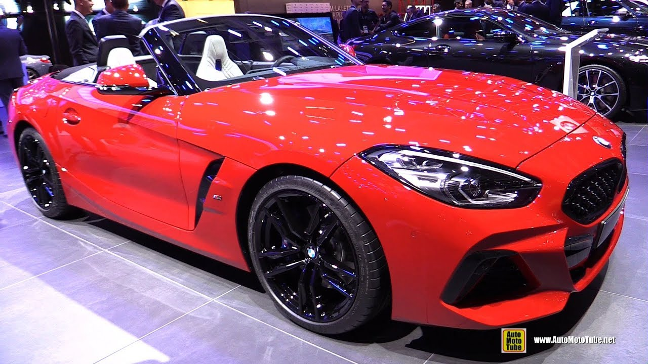 2019 bmw z4 m40i exterior and interior walkaround debut at 2018 rh youtube com
