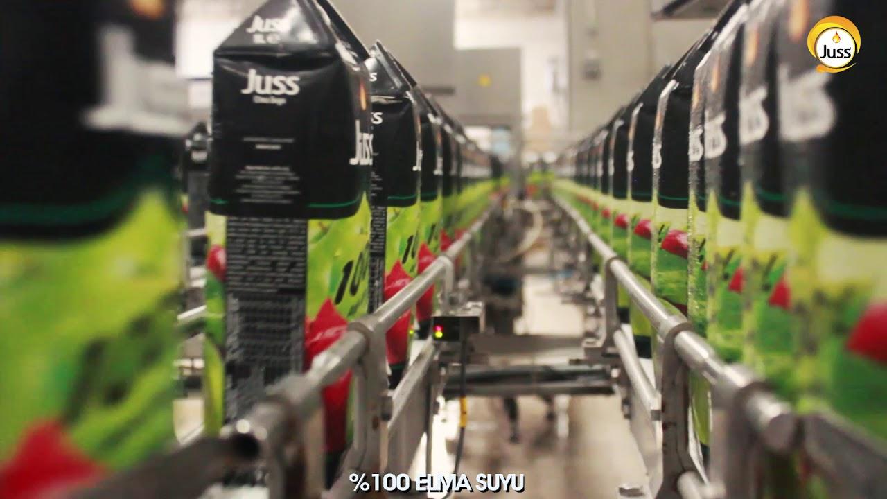 Juss yüzde yüz elma suyu üretimi