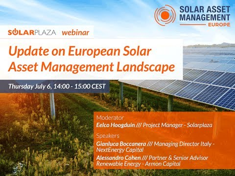 Solarplaza Webinar: Update on European Solar Asset Management Landscape