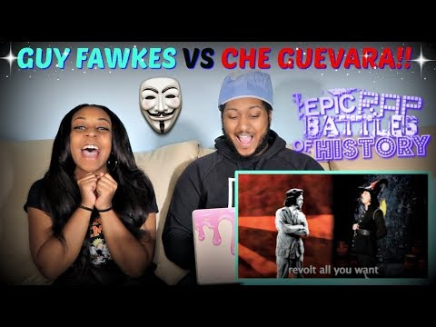 "Epic Rap Battles of History ""Guy Fawkes vs Che Guevara"" REACTION!!!"
