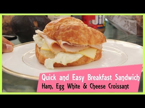 Brunch Time All Day Everyday ! | Turkey  Ham, Egg White, Cheese Croissant #BuzyBeez