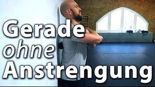 Körperhaltung verbessern: gerade stehen ohne Anstrengung
