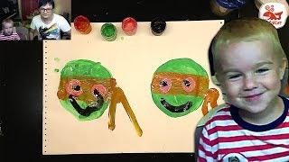 Рисование для малыша УРОК : Рисуем Черепашку Ниндзя
