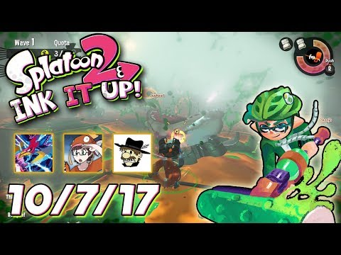 Splatoon 2 - Ink It Up! 10/7/17! Close Encounters of the Squid Kind!