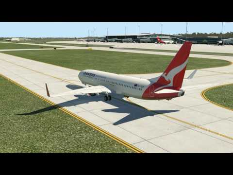 Qantas Airlines 525 Brisbane to Sydney | 737-800 Zibo Mod
