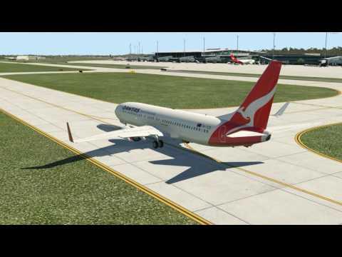 Qantas Airlines 525 Brisbane To Sydney | 737-800 Zibo Mod