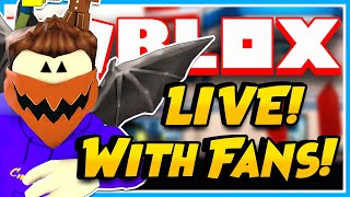 ROBLOX LIVE WITH FANS + ROBLOX JAILBREAK, ROBLOX MM2, AND MORE + Subscriber ROBUX Giveaways!