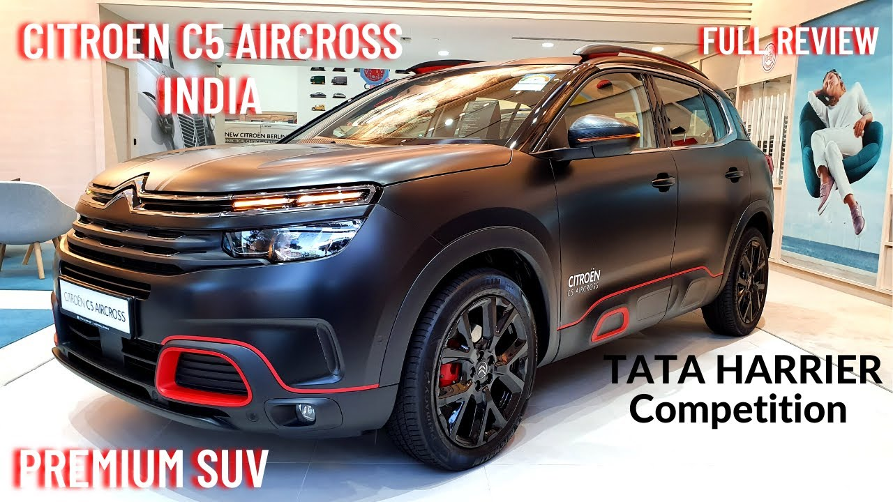2021 Citroen C5 Aircross Premium SUV India - Tata Harrier Competition | Sunroof, Features, Interiors