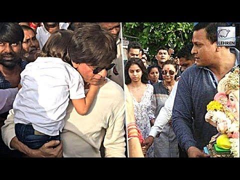 Shah Rukh Khan's Ganpati Visarjan With Abram & Suhana | LehrenTV Mp3