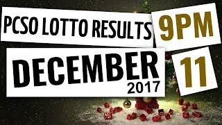 Lotto Results Dec 11, 2017, 9PM ft. Ez2, Swertres, 4D, 6-45 & 6-55