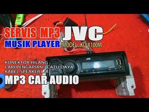 servis JVC MP3 car Player MODEL: XD-X100M conector broken ( part 1 )