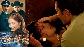 La esposa virgen - Capítulo 22: ¡Guadalupe y Olga sufren aparatoso accidente! | Tlnovelas