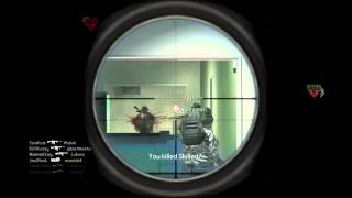 Cod 4 - Clip 3 - Collateral with 1 guy behind the wall and then Noscope wall bang!