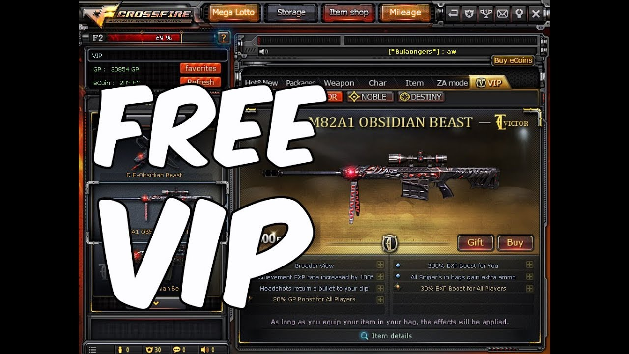 Crossfire PH Free VIP Giveaway