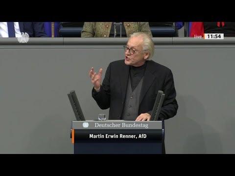 """Bundestag. """"Sie schaffen Deutschen ab."""" Martin Erwin Renner, AfD 27.11.2019"""