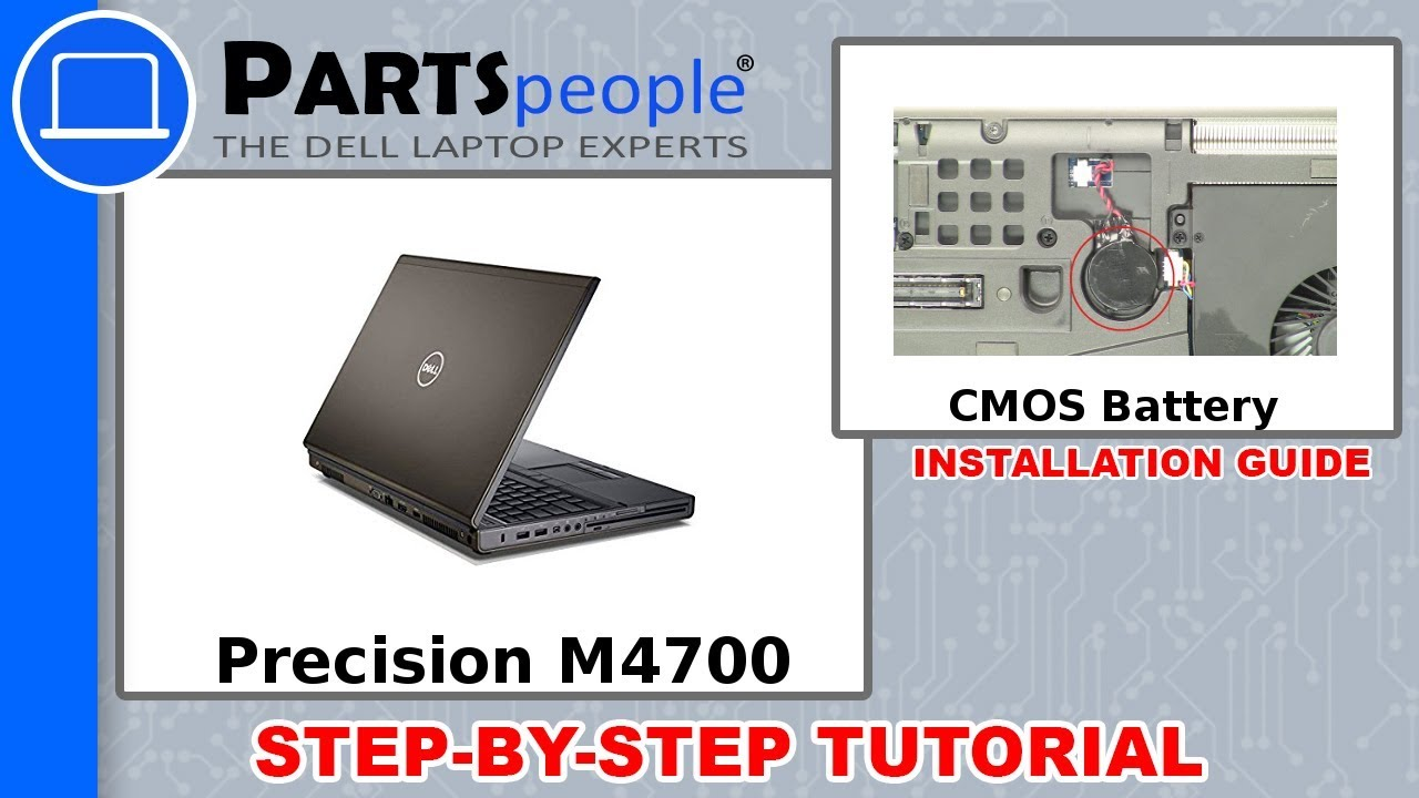 Dell Precision M4700 (P21F001) CMOS Battery How-To Video Tutorial