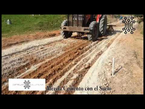 03 mezclar cemento suelo youtube for Cemento inyectado suelo