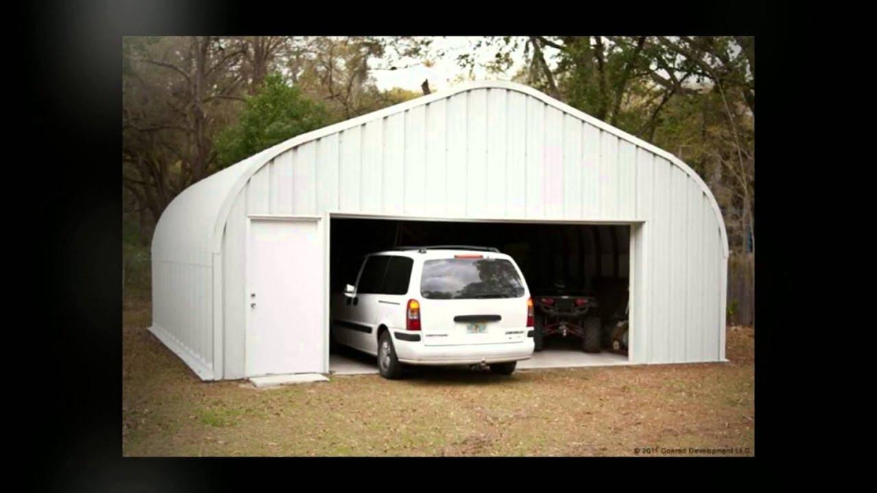 Prefab garage kits youtube for Prefab 3 car garage kits