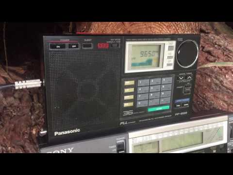 Radio Guinée  9650 kHz Conakry, Guinea, strong signal with ID at the Oxford DX woods