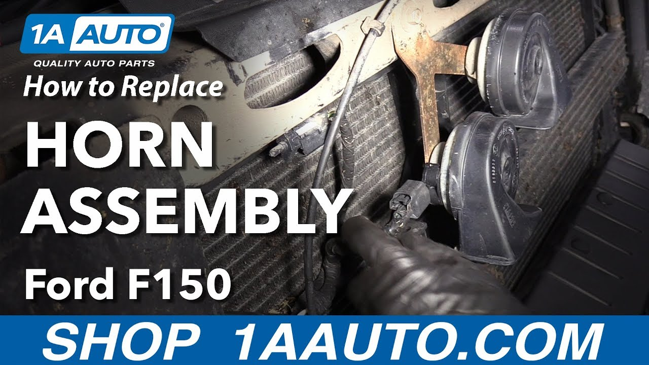 how to replace horn assembly 09 14 ford f 150 [ 1280 x 720 Pixel ]