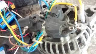 Alternateur converti en moteur brushless.