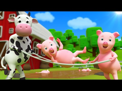 Five Little Piggies | Nursery Rhyme | Kids Songs by Farmees S01E02